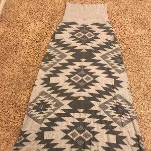 Women's long (maxi like) Aztec Skirt